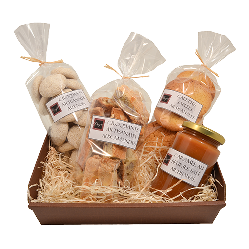 Coffret biscuits gourmands grand format pâtisserie artisanale réalisé à St Laurent Royans