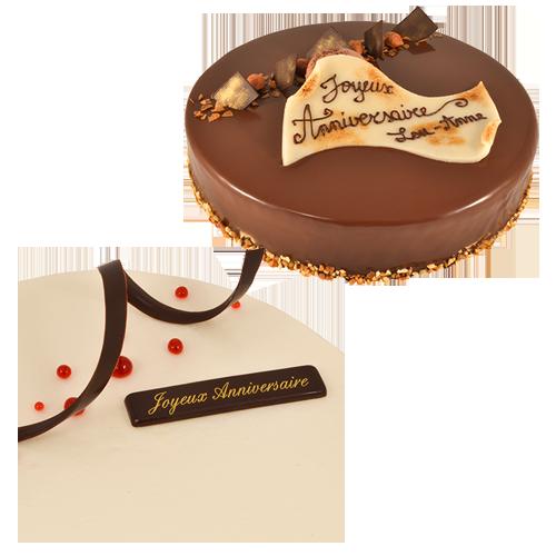 Décors anniversaire réalisés par Artisan pâtissier Cluzel