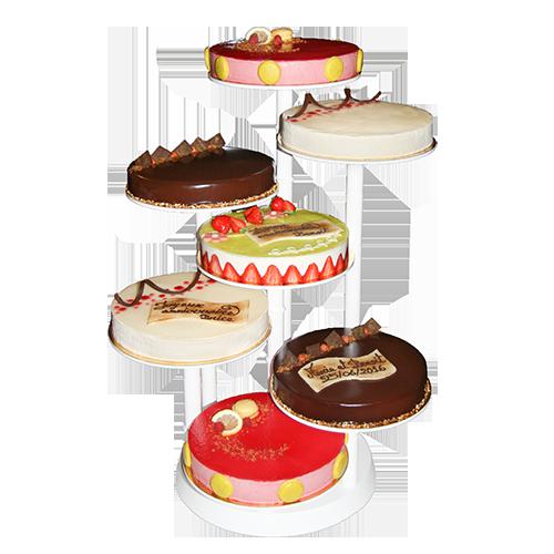 Présentoir 7 pâtisseries réalisé par Artisan pâtissier Cluzel