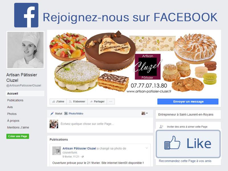 Facebook Artisan pâtissier Cluzel